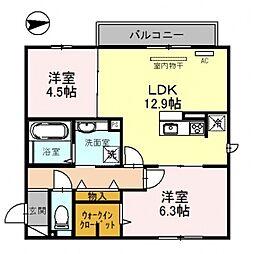 仮)D-room沢田2丁目[203号室号室]の間取り