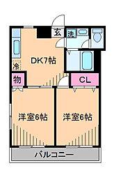 レジデンス綱島[2階]の間取り