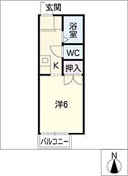 セジュール・エイト[1階]の間取り