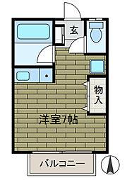 アットハイム[2階]の間取り
