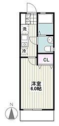 小田急江ノ島線 湘南台駅 徒歩10分の賃貸アパート 1階1Kの間取り