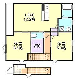 ガーデンリラD棟[2階]の間取り