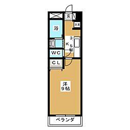 EverGreen北仙台[4階]の間取り