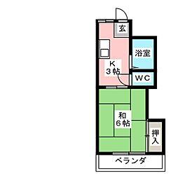 コーポIVY[1階]の間取り