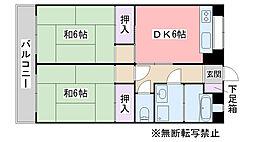 福岡県糸島市前原西1丁目の賃貸マンションの間取り