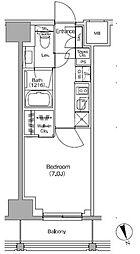JR総武線 飯田橋駅 徒歩4分の賃貸マンション 11階1Kの間取り