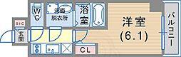 JR東海道・山陽本線 神戸駅 徒歩6分の賃貸マンション 6階1Kの間取り