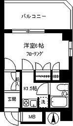 ロジェマン柿の木坂[605号室]の間取り