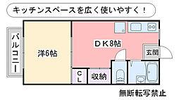アーバンライフ田隈[103号室]の間取り