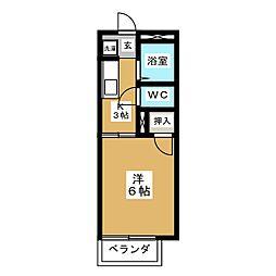 フラワーハイツ笠木[2階]の間取り