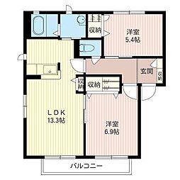 ファミール D[2階]の間取り