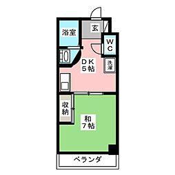第5名昭ビル[3階]の間取り