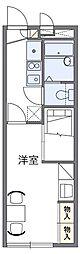 東京都調布市布田5丁目の賃貸アパートの間取り