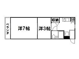 サンミッシェル吉田[3階]の間取り