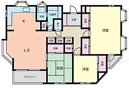 ロワレール港南丸山台(ロワレールコウナンマルヤマダイ)[3階]の間取り