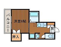 シャンベール町田[4階]の間取り