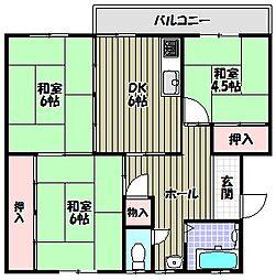 泉北桃山台団地26号棟[2階]の間取り