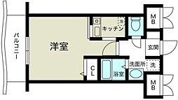 ノルデンハイム新大阪II[10階]の間取り