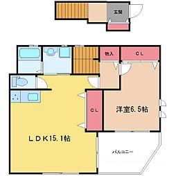 KIKI三番館[3階]の間取り