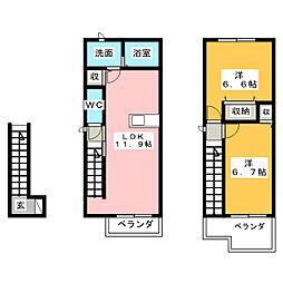 メゾン エルモール[2階]の間取り