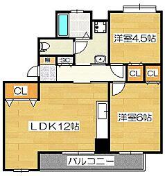 桜台第2グリーンコーポ[305号室]の間取り