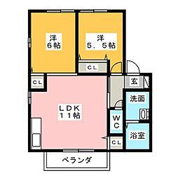 ハーモネイトI・II・III[1階]の間取り