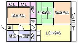 NO8山一ビル[306号室]の間取り