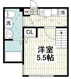 小田急江ノ島線 桜ヶ丘駅 徒歩9分の賃貸アパート 1階1Kの間取り