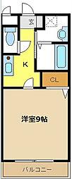 アビタシオン八事[1階]の間取り