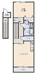 ハイステージ城屋敷C[2階]の間取り