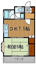 神奈川県川崎市川崎区中島3丁目の賃貸マンションの間取り