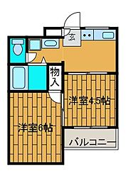 さがみスクエア[2階]の間取り