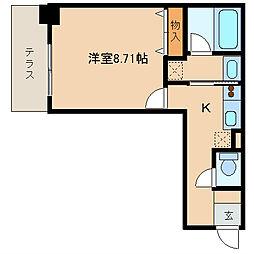 レジディア新川[103号室]の間取り