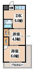 諸福マンション[2階]の間取り