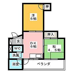 第2大洋ビル[5階]の間取り