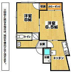 中島アパート[2階]の間取り