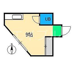 本町コア[3階]の間取り