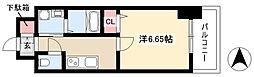 第18金山フクマルビル 4階1Kの間取り