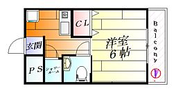 ナンノ第12号館[5階]の間取り