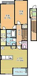 リアルエステイトXII[2階]の間取り
