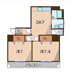 東照第2ビル[4階]の間取り
