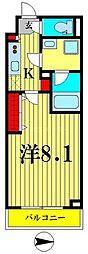 東京メトロ半蔵門線 住吉駅 徒歩5分の賃貸マンション 1階1Kの間取り