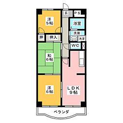 クレセント桜島[1階]の間取り