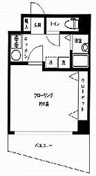 東京メトロ銀座線 日本橋駅 徒歩10分の賃貸マンション 6階1Kの間取り