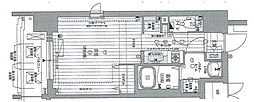 Osaka Metro谷町線 中崎町駅 徒歩6分の賃貸マンション 4階1Kの間取り