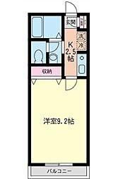 神奈川県横浜市西区久保町の賃貸アパートの間取り