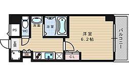 グランパシフィック堀江WEST[9階]の間取り