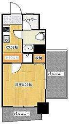 モトサウンドビル 5階1Kの間取り