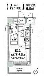 相鉄本線 西横浜駅 徒歩12分の賃貸マンション 2階ワンルームの間取り