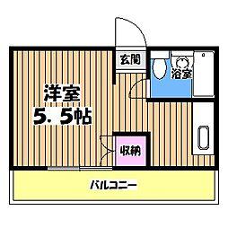 矢嶋ビル[2階]の間取り